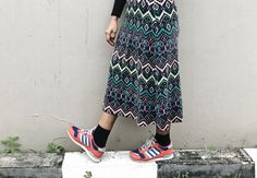 #patterns #patternskirt #sneakers #ootd