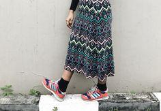 #patterns #patternskirt #sneakers #ootd