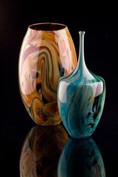 Nikolaj Christensen glass - chalcedony pieces