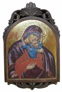 Mother of God, Mother of Tenderness, Our Lady, Blessed Virgin Mary, Hand painted orthodox icon, Byzantine art, Greek, Russian, orthodox gift