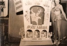 SEAMAN FAMILY HISTORY: FRIDAY FOTO 5 - CINEMA ADVERTISING - Skimpy costumes and cinema advertising... all in a days work at the movies! #familyhistory #genealogy