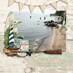 This layout was created for the Sweet Shoppe Summer Shadowbox contest -  come join the digital scrapbooking fun at SweetShoppeDesigns.com!