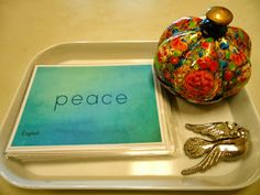 In recognition of International Peace Day last week, I put together a new lesson for our Peace Table. This lesson includes a set of beauti. Montessori Education, Montessori Classroom, Montessori Materials, Montessori Activities, Montessori Elementary, Montessori Toddler, Peace Studies, World Peace Day, Peace Education
