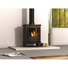 How to replace a gas fire with a wood burning stove. Gas Wood Burner, Log Burner, Multi Fuel Burner, Multi Fuel Stove, Modern Fireplace, Gas Fireplace, Weathered Wood Stain, Porch Light Fixtures, Gas Fires