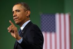 President Barack Obama gestures as he speaks about automatic defense budget cuts during a visit to Newport News Shipbuilding, a division of Huntington Ingalls Industries in Newport News, Virginia, United States.