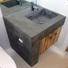 custom concrete integral sink colorado