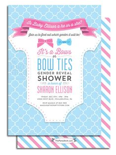 41 best gender reveal party invitations images on pinterest in 2018 gender reveal party invitation printable bows or bowties theme party ideas coordinating decorations and games available in our shop filmwisefo