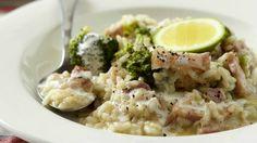 Krémové risotto se slaninou a brokolicí Foto: Risotto, Potato Salad, Potatoes, Ethnic Recipes, Food, Bulgur, Meal, Potato, Essen