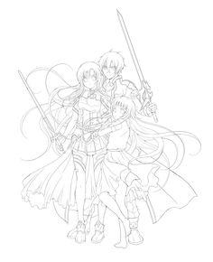 30 Best Sword Art Online Coloring Images In 2019 Sword