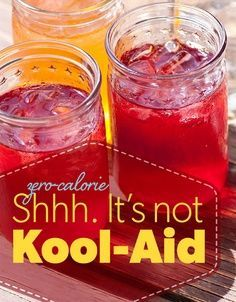 """Better than Kool-Aid"" Cool Aid. Really healthy ""Kool-Aid"" with no artificial sweeteners or colors! #drink #health"