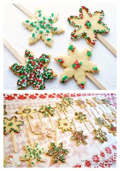 Do you make Christmas Cookies with your kids? It's so fun to get creative in the kitchen with kids.  What is your favorite Christmas Cookie Recipe?  Colorful Kids Holiday Sugar Cookie Pops at B-Inspired Mama