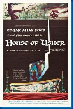House Of Usher Movie Poster 24inx36in