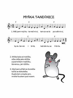myška tanečnice Aa School, School Clubs, Music For Kids, Kids Songs, Dinosaur Party, Music Notes, Montessori, Musicals, Kindergarten