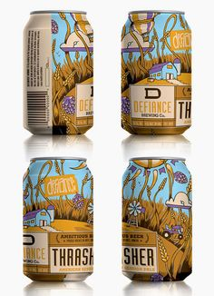 Defiance Brewery Thrasher Cans