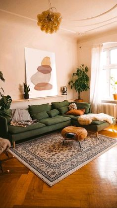 Living Room Seating, Boho Living Room, Home And Living, Earth Tone Living Room Decor, Plants In Living Room, Cozy Living Room Warm, Earthy Living Room, Living Room Decor Eclectic, Living Room With Color