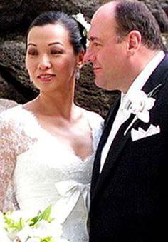James Gandolfini and Deborah Lin at Their Wedding