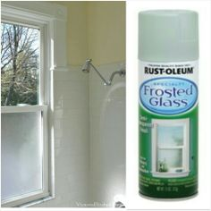 For An Inexpensive Solution To Create Privacy In Showers With Windows Remove The Window Spray Side That Faces Outside Frosted Gl 8