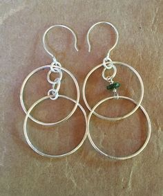 Double Hoop Earrings by ZammaDesigns on Etsy