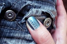 Polish Up – Nail Art Challenge – Theme #2 - an old school blue jeans look