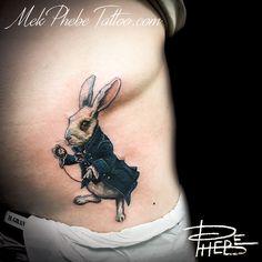 WhiteRabbit  By Phebe by Mek-Phebe-Tattoo.deviantart.com on @DeviantArt