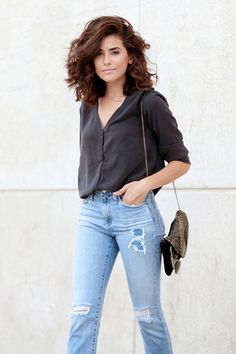 How to Reinvent Your Fall Denim Game Like an It Girl via @WhoWhatWear