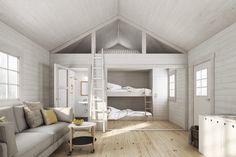 Baseco | När kvalitet möter stil | Cabin interior | Small Space Living, Small Spaces, Tiny Loft, Attic Bedrooms, Loft Room, Living Styles, Loft Spaces, Tiny House Design, Cabin Interiors