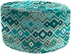 Add style and color to your patio decor with an attractive Outdoor Pouf Ottoman. Made with Sunbrella acrylic fabric, each durable piece is engineered to endure the weather and resist mildew and stains. Dining Room Chair Cushions, Pouf Ottoman, Wedding Gift Registry, Outdoor Furniture, Outdoor Decor, Fine China, Bedding Shop, Bath Towels, Peacock