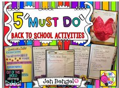 Blog Post: 5 'Must Do' Back to School Activities.  Great for building a classroom community!