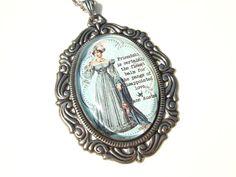 Jane Austen Necklace Jane Austen Cameo by FragileEliteDesign, £18.00