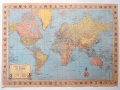 Gift guide for the globetrotter: diy travel map