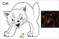 Cat stencils for pumpkin carving, Free pumpkin carving stencils | Pictures of Cats - Band of Cats