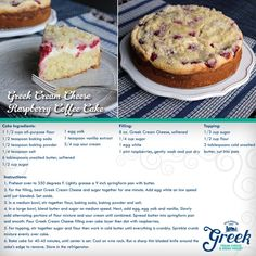 Wake up and treat yourself to this on #SundayFunday! By adding Greek Cream Cheese to this classic recipe, we: ● lowered the fat ● amplified the protein and ● added a tasty tanginess to the flavor.