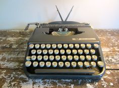 Vintage Typewriter Charcoal Gray Smith by VintageShoppingSpree, $110.00