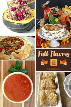 Pin the Fall Flavors recipe collection today.  You are going to want it all season long! Breakfast baking, simple fall dinners, desserts and cocktails. Find more recipe collections every week at www.sundaysuppermovement.com. #SundaySupper