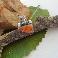 Korallen-Fossil-amp-Perle-Eule-Ring-17-25-mm-925-Sterling-Silber