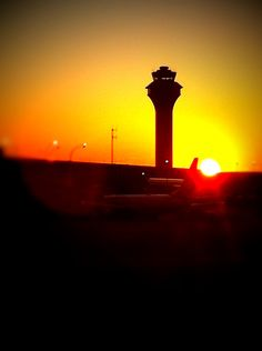 Dawn at DFW airport.