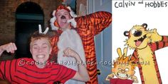 Cute Couples Costume: Calvin and Hobbes ...This website is the Pinterest of birthday cakes