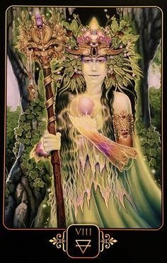 """May 20/2017 Daily Angel Oracle Card: Eight of Earth, from the Dreams Of Gaia Tarot Card deck, by Ravynne Phelan Eight of Earth: """"Growth, Manifestation, Accomplishment, Success, Abundance, Wealth, Appreci…"""