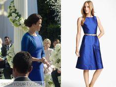 Scandal: Season 4 Episode 17 Mellie's Blue PLeat Front Dress