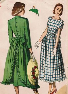 1940s Simplicity 2396 UNCUT Vintage Sewing by midvalecottage