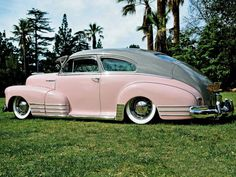 Check out this 1948 Chevrolet Fleetline equipped with a 261 engine, OG Artillery Wheels with Denman white wall tires, an Alpine CD player and much more. Don't miss out on this lowrider Bomb here at Lowrider Magazine. Vintage Trucks, Old Trucks, Lowrider, Volkswagen, Toyota, Automobile, Gm Car, Old School Cars, Car Restoration