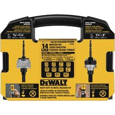 dewalt case | D180005 14 Pc. Master Hole Saw Kit | DEWALT Tools