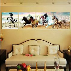 Wall painting to create a magic touch to your bedroom wall.