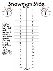 """Subtraction practice from First Grade Wow: """"There's Snow Time Like Winter"""" UNIT Second Grade Math, First Grade, Grade 1, Math Stations, Math Centers, Math Resources, Math Activities, School Resources, Winter Activities"""