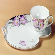 snack plate and cup set
