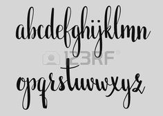 abc cursive: Handwritten brush style modern calligraphy cursive font. Calligraphy alphabet. Cute calligraphy letters. For postcard or poster decorative graphic design. Isolated letter elements. Illustration
