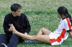 Bend It Like Beckham - Publicity still of Jonathan Rhys Meyers & Parminder Nagra. The image measures 1960 * 1283 pixels and was added on 11 August Shaznay Lewis, Parminder Nagra, Film Distribution, Bend It Like Beckham, Jonathan Rhys Meyers, British American, David Beckham, Feature Film, My Best Friend