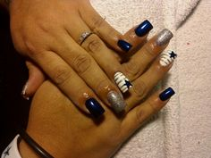 Nails except for the cowboys i would do my school mascot or nail designblue and silverdallas cowboys nails true blue nail art prinsesfo Gallery