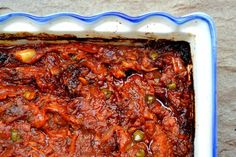 Cuketová směs na topinky A Food, Food And Drink, Slovak Recipes, Meatloaf, Chicken Wings, Lasagna, A Table, Zucchini, Spinach