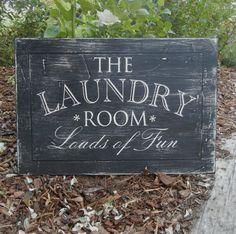 The Laundry Room  hand painted distress by OldBarnRescueCompany, $48.00